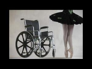 wheelchair and ballerina